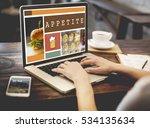 food menu appetite cuisine...   Shutterstock . vector #534135634
