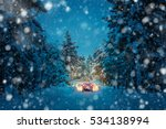 winter driving at snowfall... | Shutterstock . vector #534138994