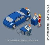auto service computer car... | Shutterstock . vector #534140716