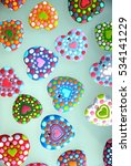 wedding card   colorful heart... | Shutterstock . vector #534141229