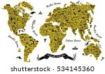 typography world map. travel... | Shutterstock .eps vector #534145360