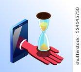 isometric vector cell phone... | Shutterstock .eps vector #534145750