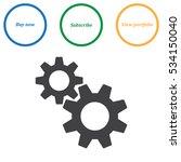 gear icon vector flat design... | Shutterstock .eps vector #534150040