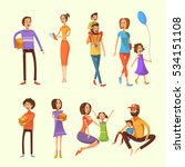 family and children cartoon set ... | Shutterstock . vector #534151108