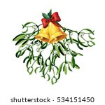 christmas watercolor with... | Shutterstock . vector #534151450