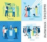 pressman and journalist concept ...   Shutterstock . vector #534154990