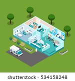 medical center icons isometric... | Shutterstock . vector #534158248