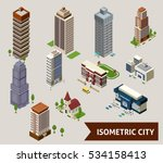 isometric city isolated icon...   Shutterstock . vector #534158413