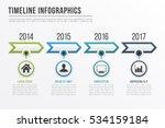 timeline infographics template... | Shutterstock .eps vector #534159184