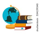 book school with planet earth... | Shutterstock .eps vector #534159340