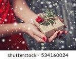 female hands holding christmas... | Shutterstock . vector #534160024