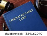 concealed carry laws title on a ... | Shutterstock . vector #534162040
