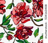 vector floral pattern graphic... | Shutterstock .eps vector #534163408