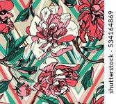 vintage floral pattern graphic...   Shutterstock .eps vector #534164869