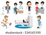 caucasian man undergoes a... | Shutterstock .eps vector #534165190