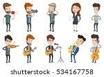 caucasian musician playing...   Shutterstock .eps vector #534167758
