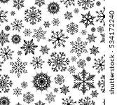 snowflake simple seamless... | Shutterstock .eps vector #534172240