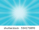 light blue pop art background | Shutterstock . vector #534173890