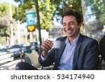 laughing middle age businessman ...   Shutterstock . vector #534174940