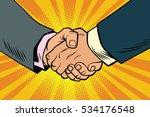 business handshake  partnership ...   Shutterstock . vector #534176548