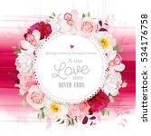 elegant floral vector round... | Shutterstock .eps vector #534176758