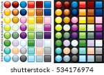 set of multicolored blank... | Shutterstock .eps vector #534176974