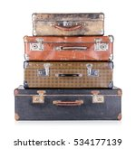 A Stack Of Old Suitcases...