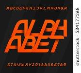 modern alphabet vector font....   Shutterstock .eps vector #534177268