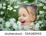 little smiling girl blonde... | Shutterstock . vector #534180943