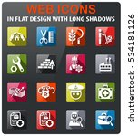 job search icons set in flat... | Shutterstock .eps vector #534181126