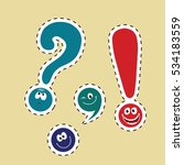 set of funny smiley punctuation | Shutterstock . vector #534183559