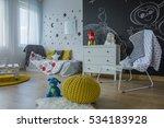 cozy children's room interior... | Shutterstock . vector #534183928