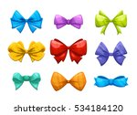 cartoon gift bow with ribbon... | Shutterstock .eps vector #534184120