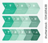 infographic template green with ... | Shutterstock .eps vector #534185638