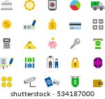 bank   money color flat icons | Shutterstock .eps vector #534187000