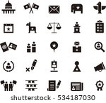 us politics black icons | Shutterstock .eps vector #534187030