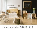 cozy modern home with decor... | Shutterstock . vector #534191419