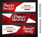 set template design merry... | Shutterstock .eps vector #534192928