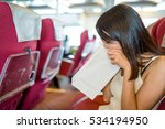 woman suffer from seasick | Shutterstock . vector #534194950