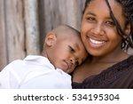 teenager with her baby. | Shutterstock . vector #534195304