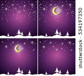 set of backgrounds with falling ... | Shutterstock .eps vector #534197350