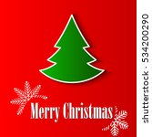 christmas greeting card. merry... | Shutterstock .eps vector #534200290