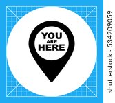you are here pointer icon   Shutterstock .eps vector #534209059