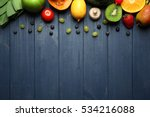 set of fresh vegetables  fruits ... | Shutterstock . vector #534216088