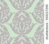 vintage baroque damask pattern...   Shutterstock .eps vector #534217240