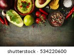 bowl of traditional... | Shutterstock . vector #534220600