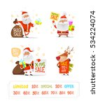 set of christmas characters... | Shutterstock .eps vector #534224074