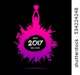 new year 2017. banner from the... | Shutterstock .eps vector #534224248