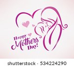 happy mothers day greeting card ... | Shutterstock .eps vector #534224290