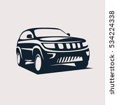 modern suv logo template ... | Shutterstock .eps vector #534224338